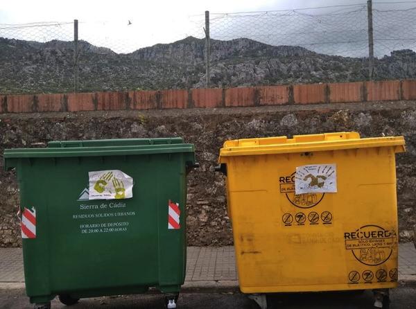 contenedores en la sierra